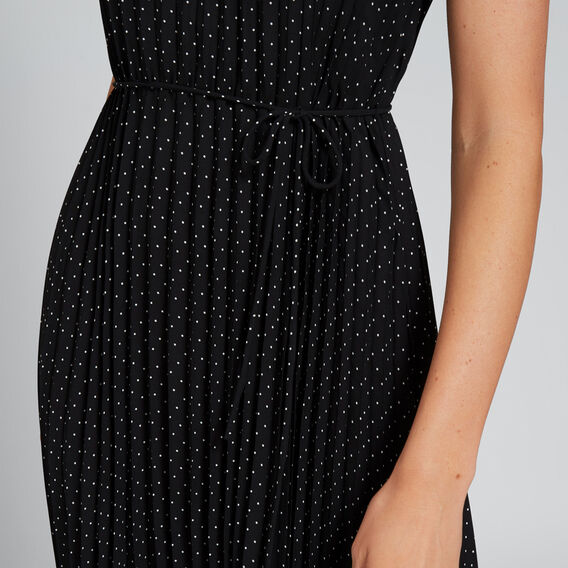 Pleated Spot Dress  BLACK/WHITE SPOT  hi-res