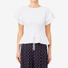 Crepe Frill Knit  BRIGHT WHITE  hi-res