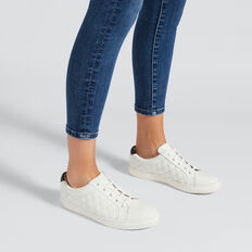 Chloe Quilted Sneaker  WHITE  hi-res
