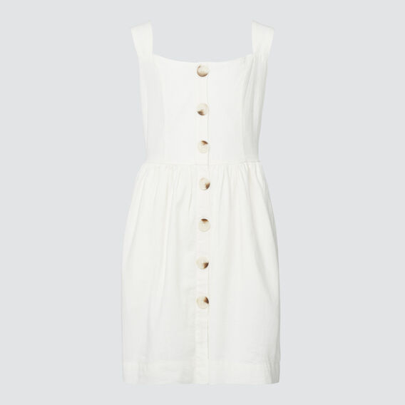 Linen Dress  WHITE WASH  hi-res