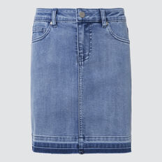 Turndown Denim Skirt  BRIGHT WASH  hi-res