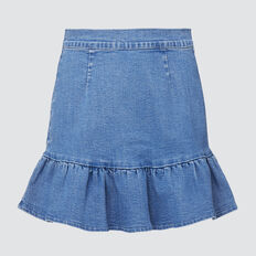 Twill Denim Skirt  BRILLIANT BLUE WASH  hi-res