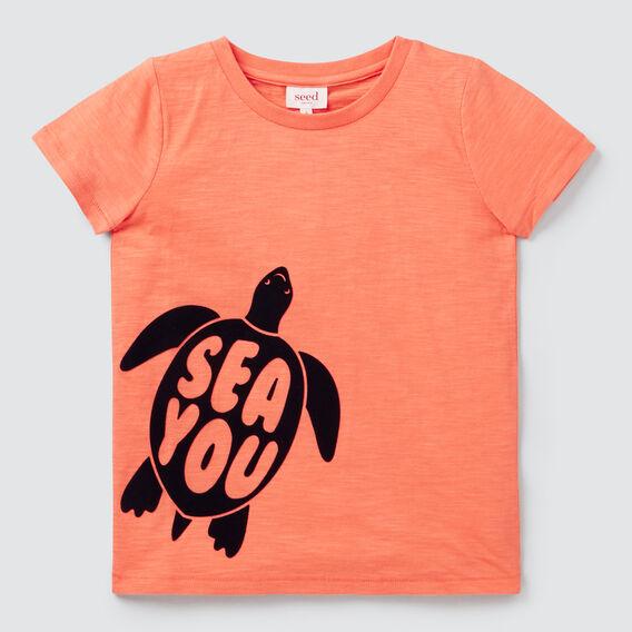 Sea You Turtle Tee  GRAPEFRUIT  hi-res