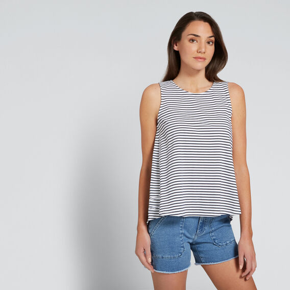 Ladder Trim Tank  DEEP NAVY STRIPE  hi-res