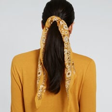 Diamond Neck Scarf  GOLDEN MUSTARD  hi-res