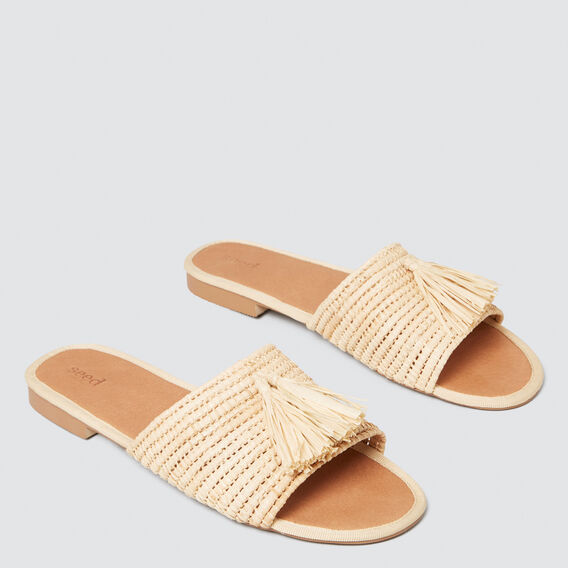 Jessie Tassel Slide  NATURAL  hi-res