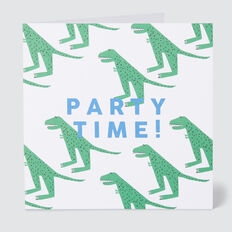 Dino Party Time Card  MULTI  hi-res