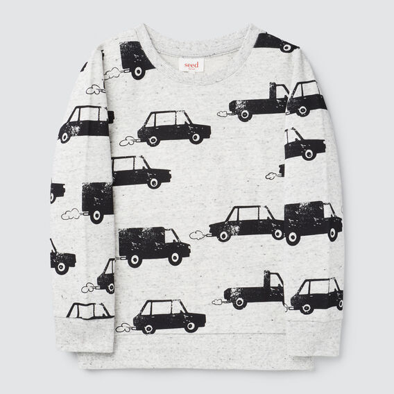Car Yardage Sweater  CLOUDY MARLE  hi-res