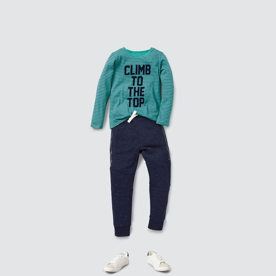 Flock Slogan Tee  TEAL  hi-res