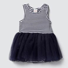 Party Dress  NAVY/WHITE  hi-res