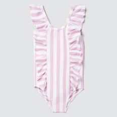 Stripe Bow Bather  FAIRY FLOSS/WHITE  hi-res