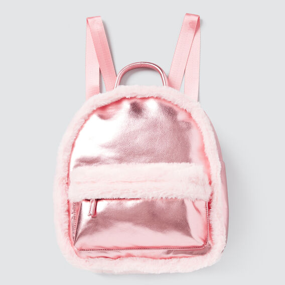 Fur Trim Backpack  PINK  hi-res