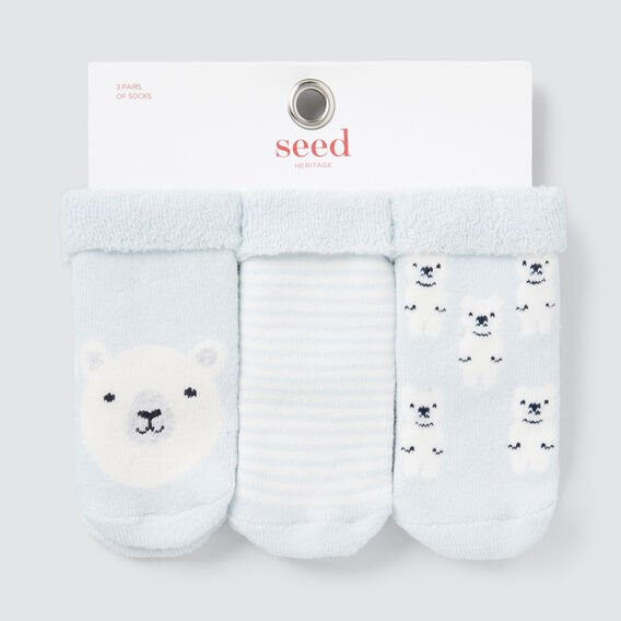 Terry Bear Socks  BLUE  hi-res
