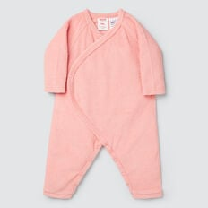 Terry Wrap Jumpsuit- Available in 00000  DUSTY PINK  hi-res