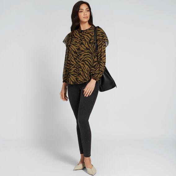 Zebra Blouson Sleeve Shirt  ZEBRA PRINT  hi-res