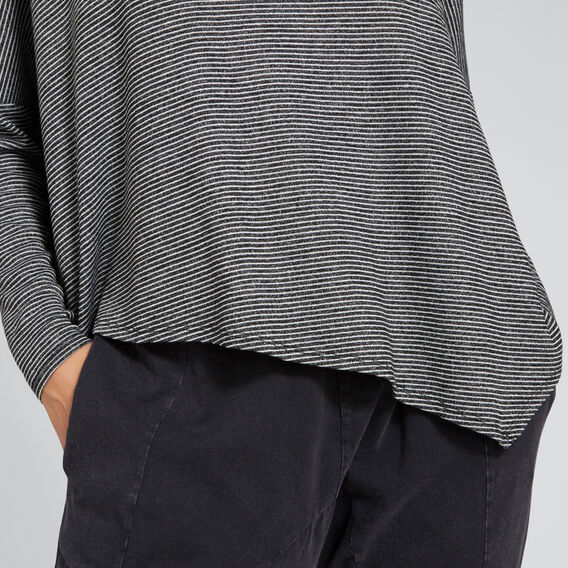 Asymmetric Stripe Sweater  ONYX MARLE STRIPE  hi-res