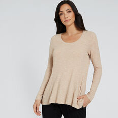 Swing Rib Top  SOFT BEIGE MARLE  hi-res