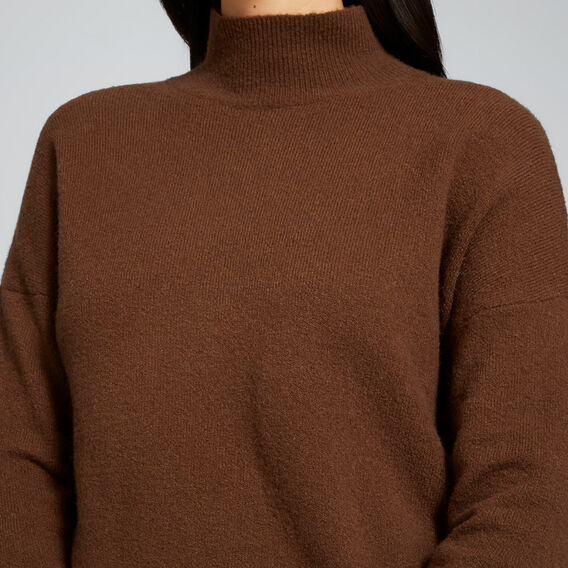 High Neck Comfy Sweater  BURNT TOFFEE  hi-res