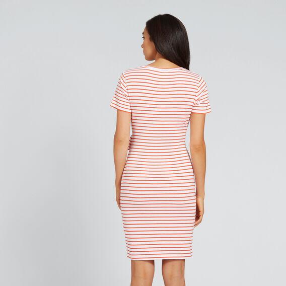 Tie-Up T-Shirt Dress  SPANISH RED STRIPE  hi-res