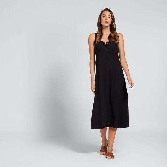 Rib Jersey Dress  BLACK  hi-res