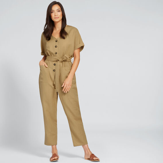 Textured Jumpsuit  LIGHT COCOA  hi-res