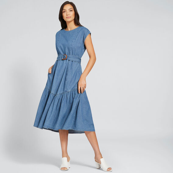 Tie-Up Chambray Dress  CLASSIC DENIM  hi-res