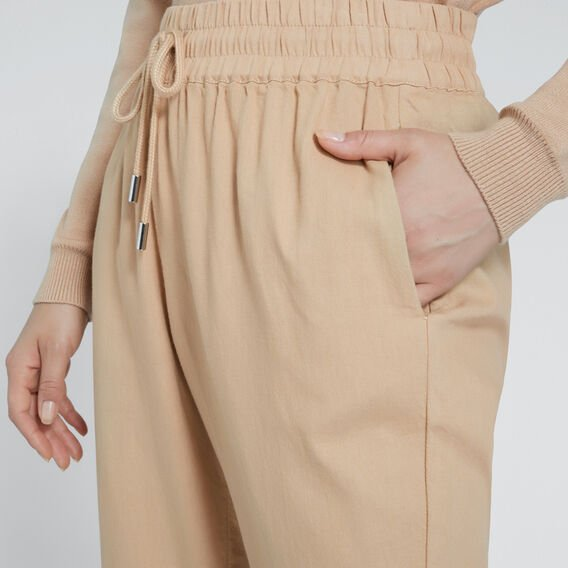 Casual Tie Up Pant  SOFT BEIGE  hi-res