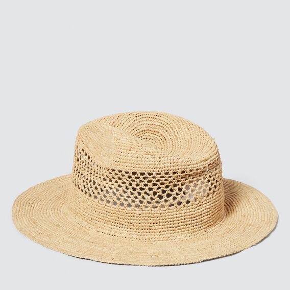 Crochet Detail Panama  NATURAL  hi-res