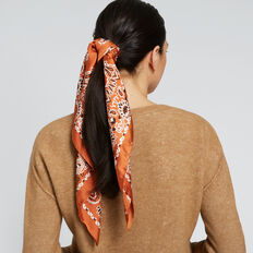 Paisley Square Scarf  BURNT TERRACOTTA  hi-res