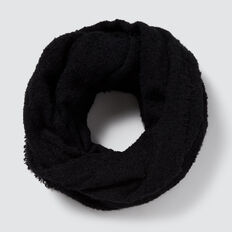 Boucle Knit Snood  BLACK  hi-res
