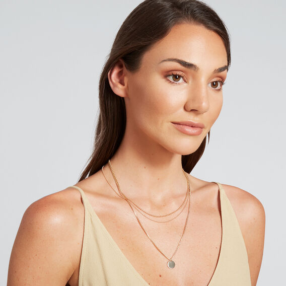 Layered Short Necklace  GOLD  hi-res