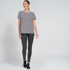 Short Sleeve Split Tee  BLACK STRIPE  hi-res