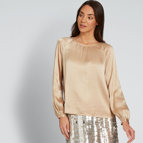 Luxe Blouse  SOFT BEIGE  hi-res