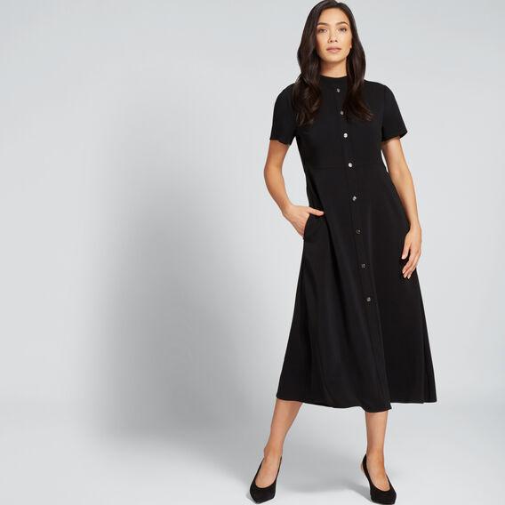 Button Through Dress  BLACK  hi-res