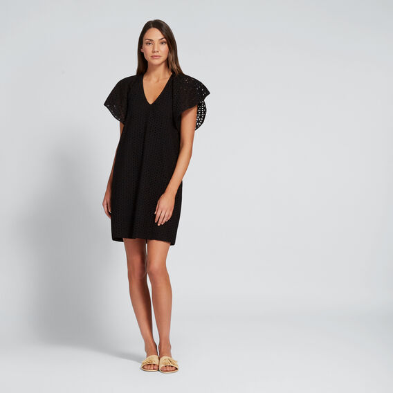 Broderie Dress  BLACK  hi-res