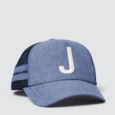 Boys' Initial Mesh Cap  J  hi-res