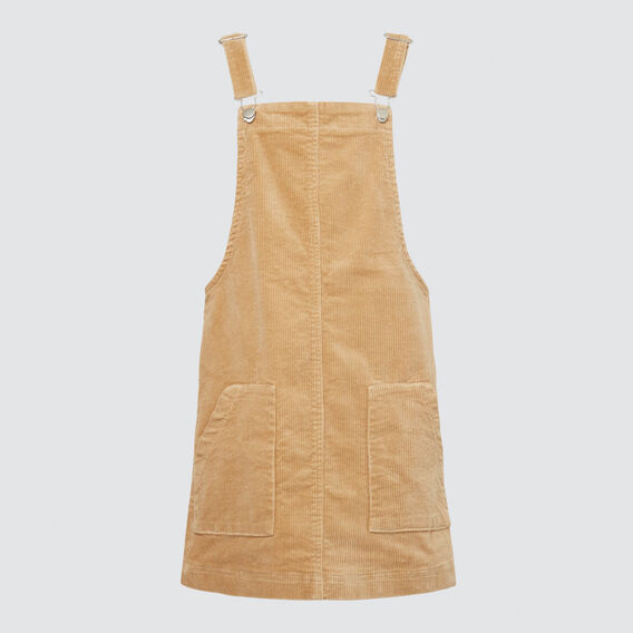 Cord Pinafore  LATTE  hi-res