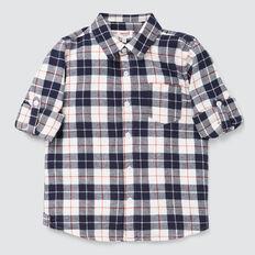 Flannel Check Shirt  MIDNIGHT BLUE  hi-res