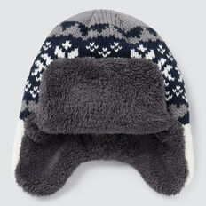 Fairisle Trapper Hat  MIDNIGHT BLUE  hi-res
