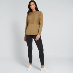 Splice Sweater  DARK KHAKI  hi-res