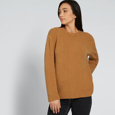 Relaxed Textured Sweater  GINGERBREAD  hi-res