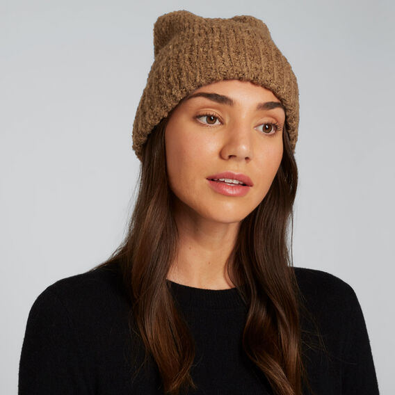 Boucle Knit Beanie  GINGERBREAD  hi-res