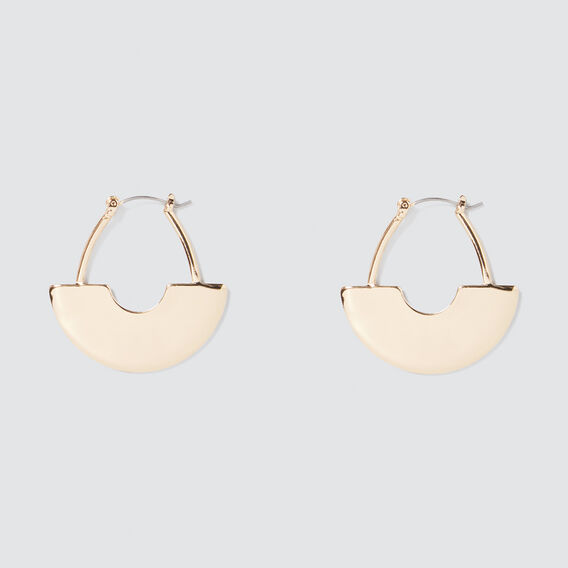 Scale Hoop Earrings  GOLD  hi-res