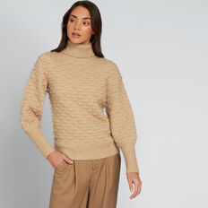 Bobble Knit  SOFT BEIGE  hi-res