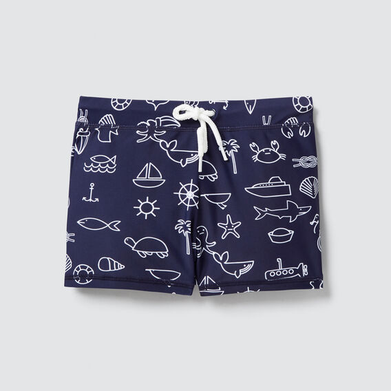Beach Yardage Swim Short  MIDNIGHT BLUE  hi-res