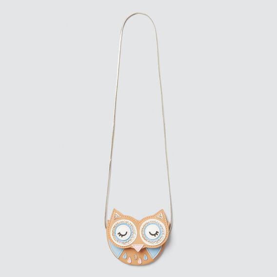 Owl Flap Purse  LIGHT TAN  hi-res