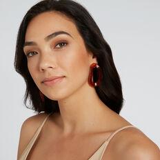 Moulded Tort Earrings  AMBER TORT  hi-res
