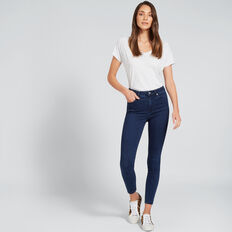 High Waist Skinny Jean  DEEPEST BLUE WASH  hi-res