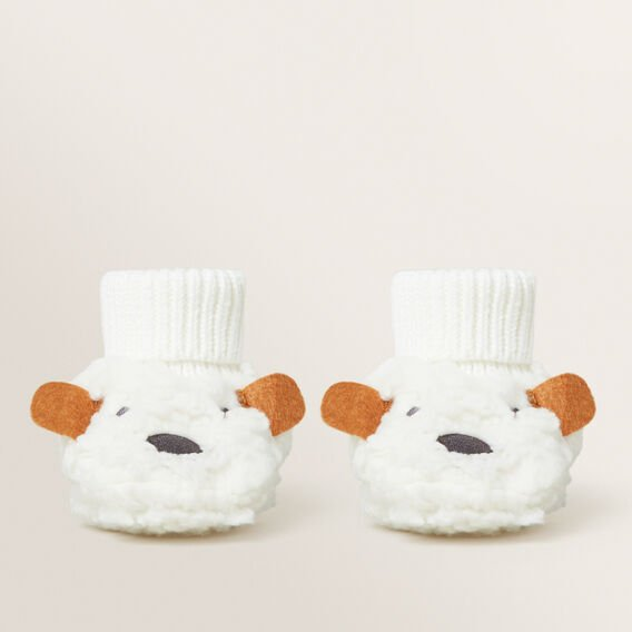 Bear Sherpa Booties  CANVAS  hi-res