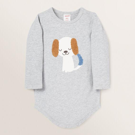 Chenille Dog Bodysuit  BIRCH MARLE  hi-res